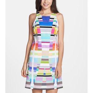 Trina Turk size 0 Aptos Geometric Dress zip back